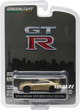 GREENLIGHT 1:64 45th ANNIVERSARY GOLD EDITION NISSAN GTR R35 SET OF 6 # 27850-F