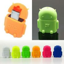Robot Micro USB Host OTG Adapter Cable for Samsung Galaxy S3 S4 Note2 Android C&