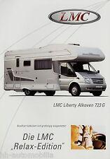 Prospekt LMC Liberty Alkoven 723 G Motorcaravan Reisemobil Wohnmobil brochure