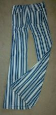 Free People Jeans Striped Flared Bell Bottoms Cotton Size 24