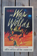 The War of the Worlds Lobby Card Movie Poster H. G. Wells Technicolor