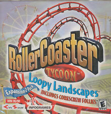 Roller Coaster Tycoon LOOPY LANDSCAPES Vintage RollerCoaster Expansion PC Game