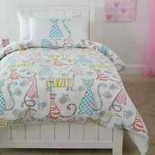 PAWS KITTY CAT CATS  KITTEN  SINGLE bed QUILT DOONA COVER SET NEW