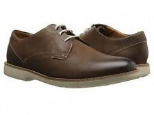 Clarks Raspin Plan Walnut Nubuck Men Oxford shoes Size 7.5 US NIB
