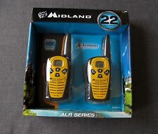 2 MIDLAND ALR1Y  TWO WAY RADIOS WALKIE TAKIE  22 MILE 22 CHANEL IN BOX UNOPENED