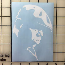 "NOTORIOUS BIG, Biggie Smalls, 6"" Tall WHITE Vinyl Decal Sticker Free Shipping"