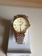 Rotary Ladies' Two-Tone Quartz Bracelet Champagne Dial Watch LB03497/03