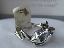 AUTHENTIC TROLLBEADS Tree Frog Ring Size 7 1/4 NWT!