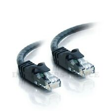 New 50 ft CAT6 Category 6 Patch Cord Cable RJ45 Booted Molded Black