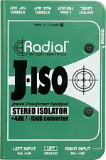 Radial Engineering J-ISO Jensen Transformer Equipped Stereo Isolator New 2day de