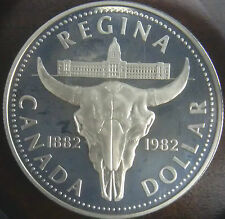 "1982 Canada Silver Uncirculated ""Regina"" Proof Dollar Coin #1993"