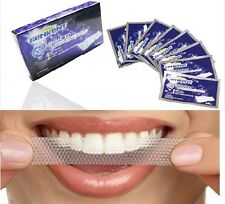 GENKENT 28pcs TEETH WHITENING STRIPS-RAPID HOME TOOTH BLEACHING-3D WHITER WHITE