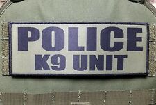 "3x8"" POLICE K9 UNIT OD Green Tactical Hook Plate Carrier Morale Raid Patch SWAT"