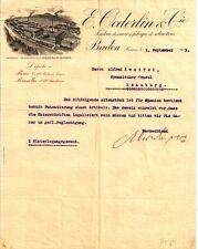 E. Oederlin & Cie Baden Aargau historisches Schreiben 1913 Schweiz Armaturen