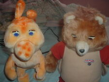 1st Generation Worlds Of Wonder Teddy Ruxpin w/Grubby,2 Books/2Cassettes,Tested.