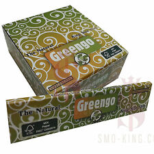 50 Greengo King Size Slim 100% Chlorine Free & Unbleached Rolling Papers - Box