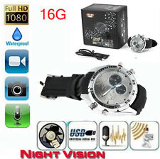Spy DV Wrist Watch 1080P Waterproof 16GB Video IR Night Vision  Hidden Camera