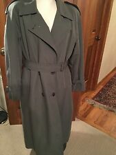LONDON FOG LADIES TRENCH COAT Olive Green, Large, Beautiful Thinsulate Lining