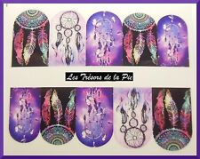 STICKERS ONGLES WATER DECAL (x10) - Nail art - Dreamcatchers - Multicolore