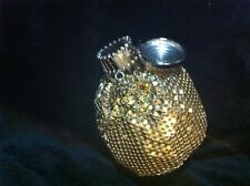 Petit VINTAGE GATE TOP Gold SEQUIN Metal Mini MESH COIN BAG Purse Wallet  B062