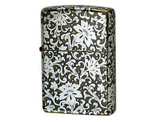 Zippo Arabesque Antique Brass and Silver / RARE Model from Japan !
