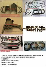 KIA SORENTO HYUNDAI I800 2.5 CRDI D4CB Crankshaft ENGINE REBUILD KIT Brand NEW