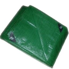 HEAVY DUTY GREEN REINFORCED TARPAULIN  5M x 4M