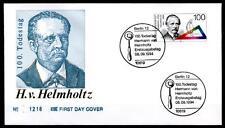 Physiker Hermann von Helmholtz. FDC(1). Berlin. BRD 1994