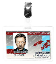 HOUSE Dr.Gregory House M.D ID Badge Hospital Cosplay Prop Costume Gift Comic Con