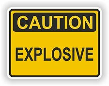 1x Explosive Caution Sticker for Bumper Fridge Bike Guitar Tool box Caravan Auto