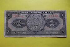 1948-V-12 Uno Circulated Un Peso $1 Banco De Mexico AC Series C957999 20
