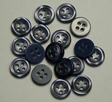 Pack of 15 Stormy Ocean Blue Shirt 10mm 4 Hole Button 0148