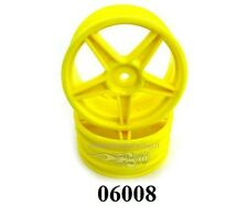 06008Y CERCHI GIALLI WHEEL RIM YELLOW 1:10 BUGGY 2PZ ESAGONO INT.12mm HIMOTO