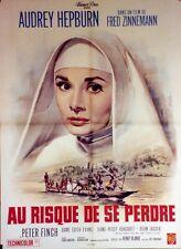 """""""AU RISQUE DE SE PERDRE (THE NUN'S STORY)"""" Affiche ressortie (Audrey HEPBURN)"""