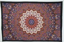 TP009 Red Purple Imported Indian Cotton Mandala Wall HangingTapestry + FREE Gift