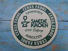 DANISH Beer Pub Coaster ~ CERES FADOL ~ Brewed by Hancock Bryggerierne ~ DENMARK