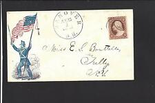 CIVIL WAR PATRIOTIC COVER, HANOVER, NEW HAMPSHIRE CDS,1861,#26, EARLY USE.