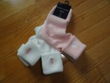 Polo Ralph Lauren Baby Toddler Girl Girl's 3 Pack Socks Pink White Pony 2-4 NWT