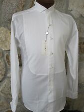 Joseph Abboud White Traditional Wingtip All Cotton Tuxedo Shirt 16.5 34/35 NOS
