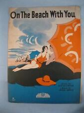 On The Beach With You Sheet Music Vintage 1931 Jesse Greer Tot Seymour Voice (O)