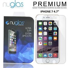 2 x Nuglas® Genuine Tempered Glass Screen Protector For Apple iPhone 7 4.7""
