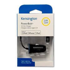 Kensington car Charger Powerbolt k38028ww 2.4a, 12w, para iphone 5, se, 6, 6s, 7