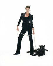 Angelina Jolie UNSIGNED photo - F602 - With Black Panther!!!!