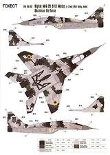 Foxbot Decals 1/48 MIKOYAN MiG-29 FULCRUM Ukrainian Digital Scheme Paint Masks