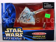 Star Wars Episode 1 TPM Action Fleet Gungan Sub w/ Qui Gon Jinn Galoob '99 NIB