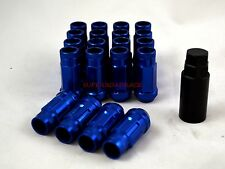 NNR PERFORMANCE EXTENDED STEEL LUG NUTS W/ LOCK FOR HONDA AND ACURA 12X1.5 BLUE