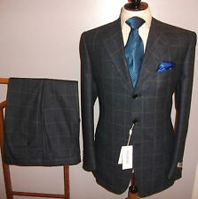BNWT Pal Zileri 42 R Blue Grey Check Tweed Wool Suit Jacket Trouser W36 L28 £675