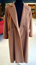 L.L. Bean Original Vintage Long Dress Wool Blend Coat*Women's 14*Camel/Beige*USA