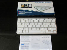 White/Silver Wireless Bluetooth Keyboard for SAMSUNG UE40D6100SK SMART TV
