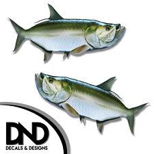 """Tarpon - Fish Decal Fishing Tackle Box Bumper Sticker """"5in SET"""" F-0830 D&"""